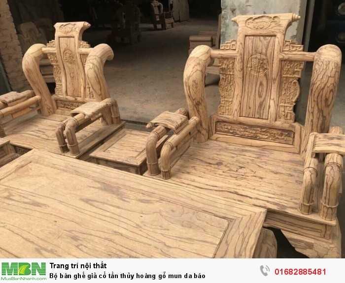 Bộ bàn ghế giả cổ tần thủy hoàng gỗ mun da báo13