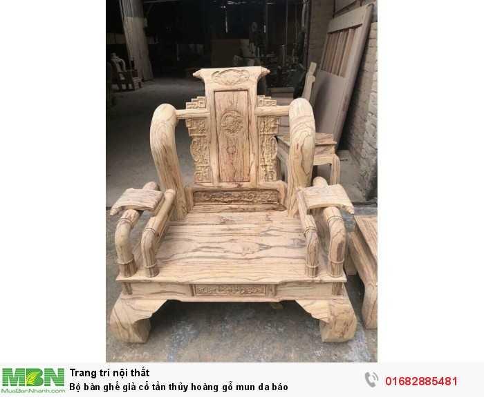 Bộ bàn ghế giả cổ tần thủy hoàng gỗ mun da báo14