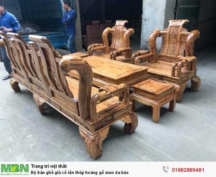Bộ bàn ghế giả cổ tần thủy hoàng gỗ mun da báo15