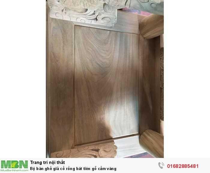 Bộ bàn ghế giả cổ rồng bát tiên gỗ cẩm vàng3
