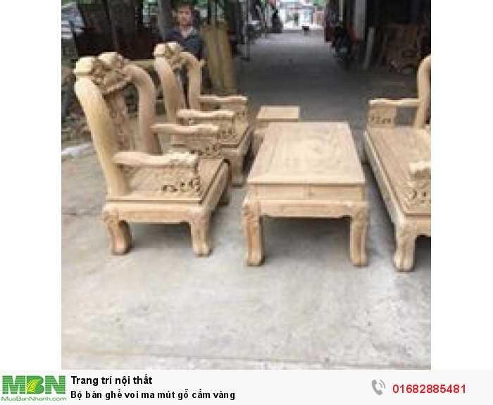 Bộ bàn ghế voi ma mút gỗ cẩm vàng0