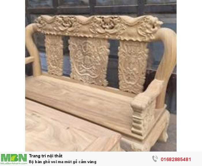 Bộ bàn ghế voi ma mút gỗ cẩm vàng1