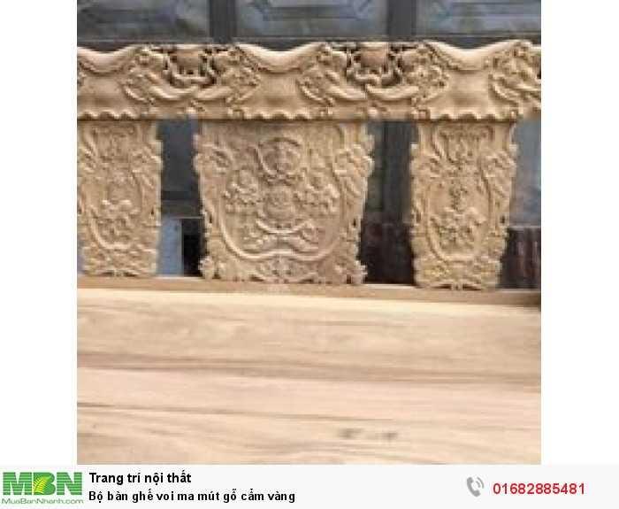 Bộ bàn ghế voi ma mút gỗ cẩm vàng2