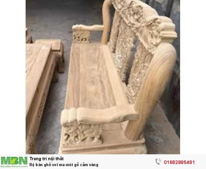 Bộ bàn ghế voi ma mút gỗ cẩm vàng3