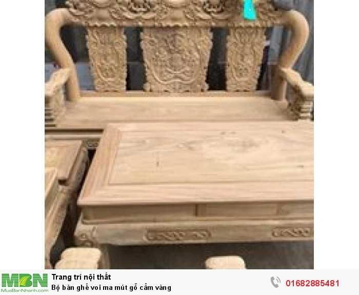 Bộ bàn ghế voi ma mút gỗ cẩm vàng7