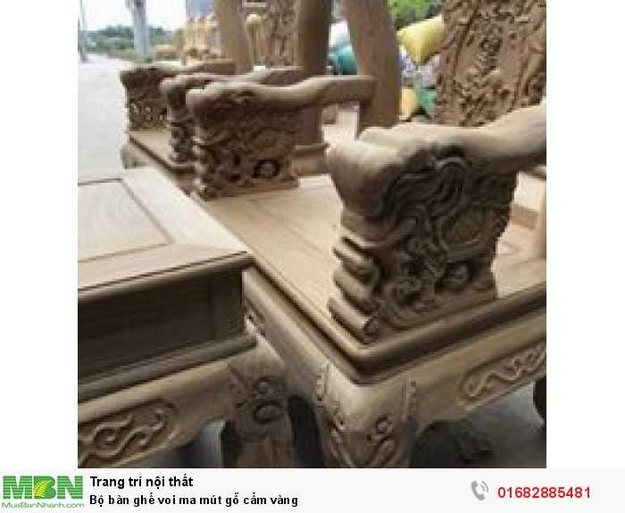 Bộ bàn ghế voi ma mút gỗ cẩm vàng8