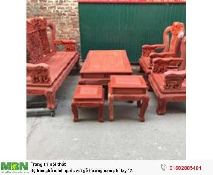 Bộ bàn ghế minh quốc voi gỗ hương nam phi tay 120