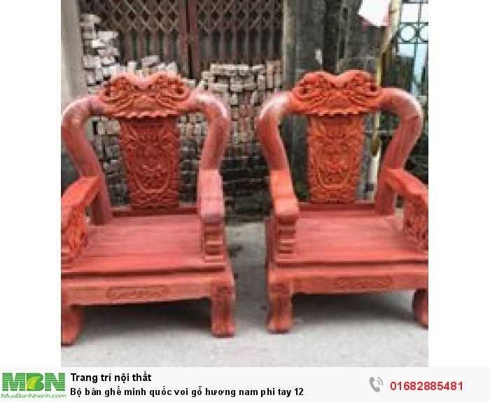 Bộ bàn ghế minh quốc voi gỗ hương nam phi tay 121