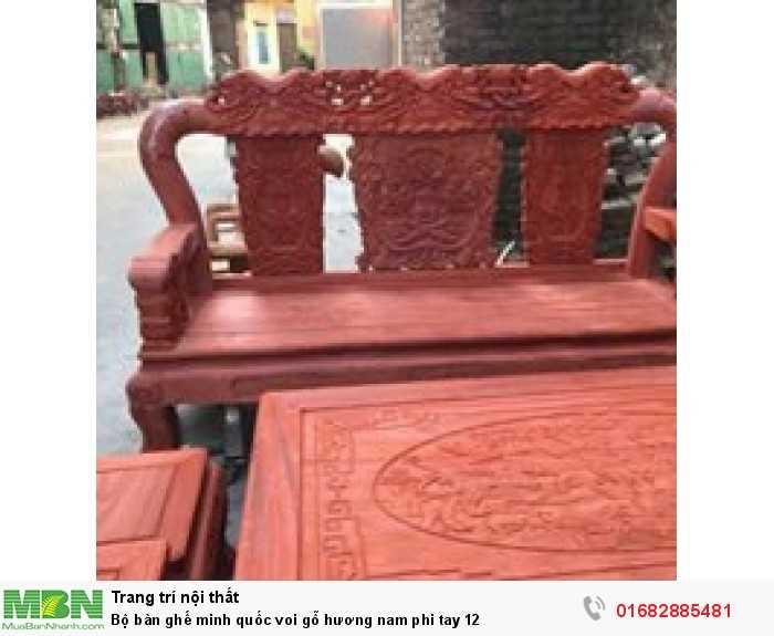 Bộ bàn ghế minh quốc voi gỗ hương nam phi tay 122
