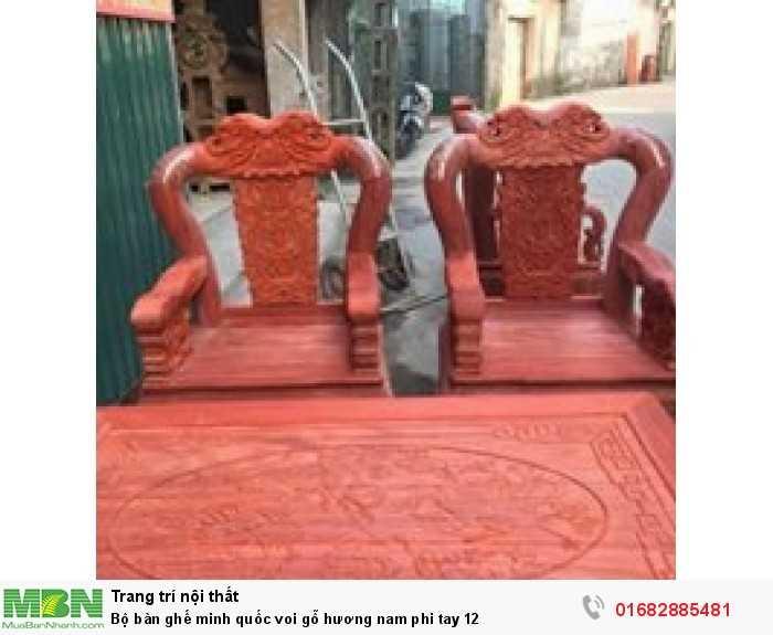 Bộ bàn ghế minh quốc voi gỗ hương nam phi tay 124