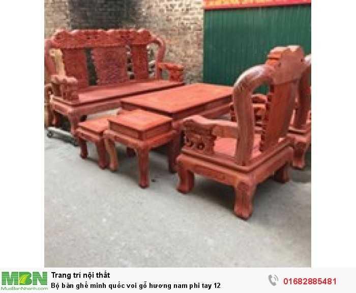 Bộ bàn ghế minh quốc voi gỗ hương nam phi tay 125