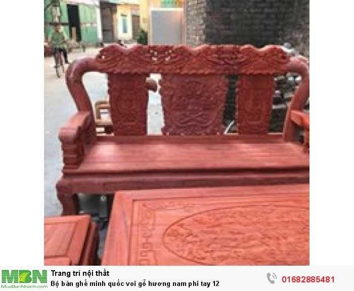 Bộ bàn ghế minh quốc voi gỗ hương nam phi tay 126