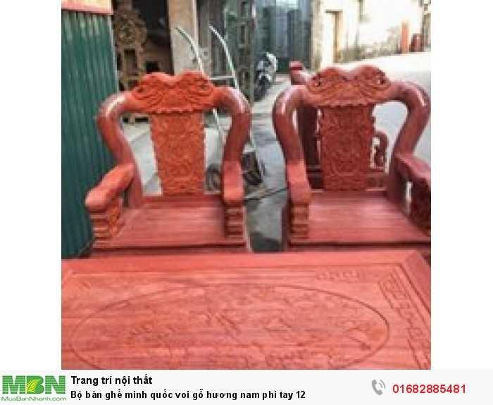 Bộ bàn ghế minh quốc voi gỗ hương nam phi tay 129