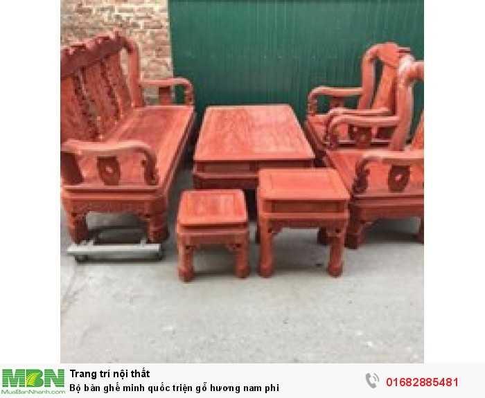 Bộ bàn ghế minh quốc triện gỗ hương nam phi0
