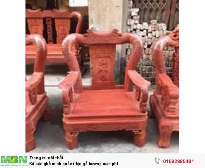 Bộ bàn ghế minh quốc triện gỗ hương nam phi4