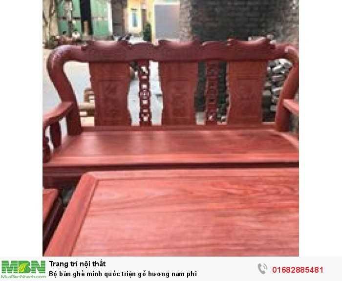 Bộ bàn ghế minh quốc triện gỗ hương nam phi5