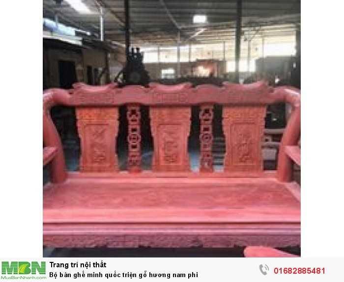Bộ bàn ghế minh quốc triện gỗ hương nam phi6