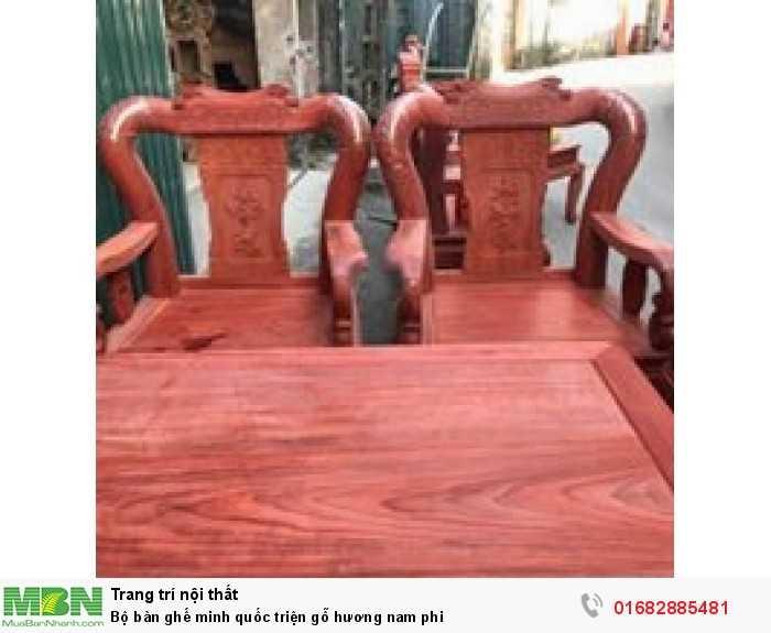 Bộ bàn ghế minh quốc triện gỗ hương nam phi7