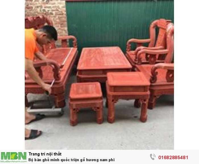 Bộ bàn ghế minh quốc triện gỗ hương nam phi8