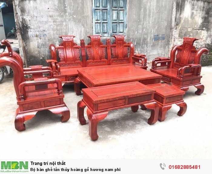 Bộ bàn ghế tần thủy hoàng gỗ hương nam phi0