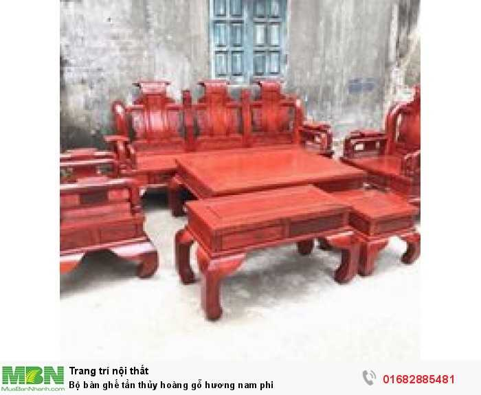 Bộ bàn ghế tần thủy hoàng gỗ hương nam phi2