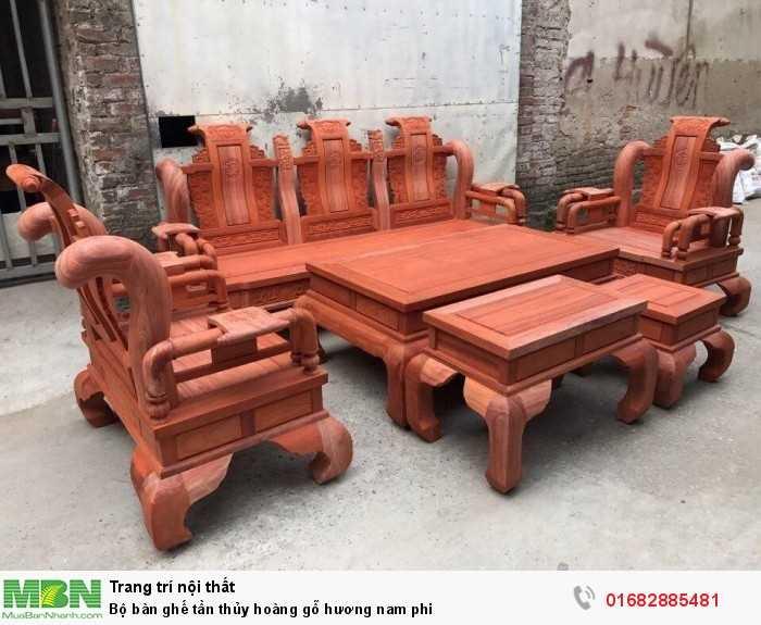 Bộ bàn ghế tần thủy hoàng gỗ hương nam phi1