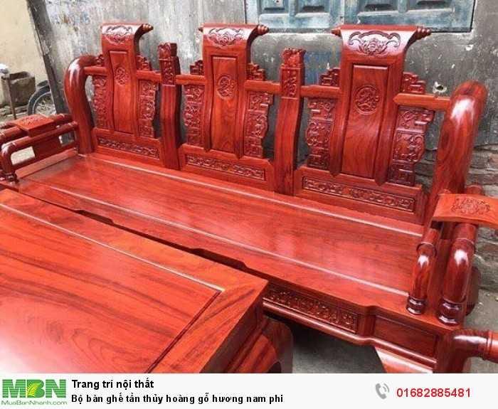 Bộ bàn ghế tần thủy hoàng gỗ hương nam phi3