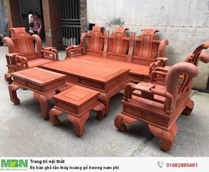 Bộ bàn ghế tần thủy hoàng gỗ hương nam phi5