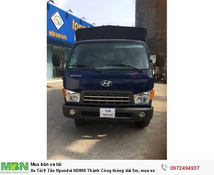 Xe Tải 8 Tấn Hyundai HD800 Thành Công thùng dài 5m, mua xe tặng GPS, Tặng vàng, thời hạn vay lên đến 60 tháng
