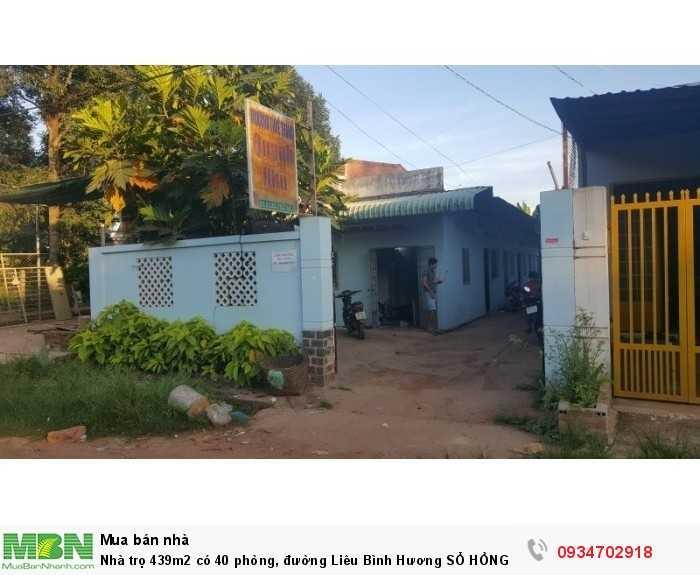 Nhà trọ 439m2 có 40 phòng, đường Liêu Bình Hương SỔ HỒNG RIÊNG, giá 2,4 tỷ