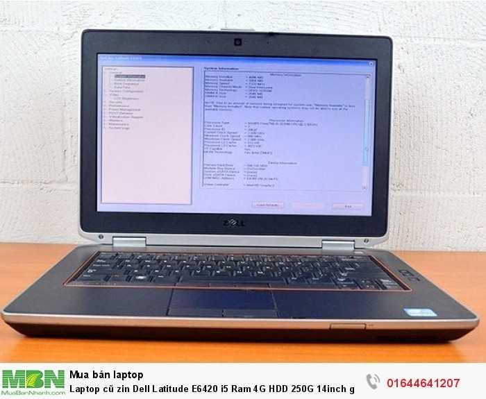 Laptop cũ zin Dell Latitude E6420 i5 Ram 4G HDD 250G 14inch giá rẻ xách tay Mỹ0