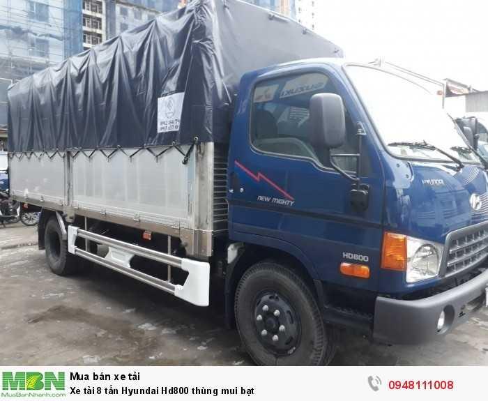 Xe tải 8 tấn Hyundai Hd800 thùng mui bạt