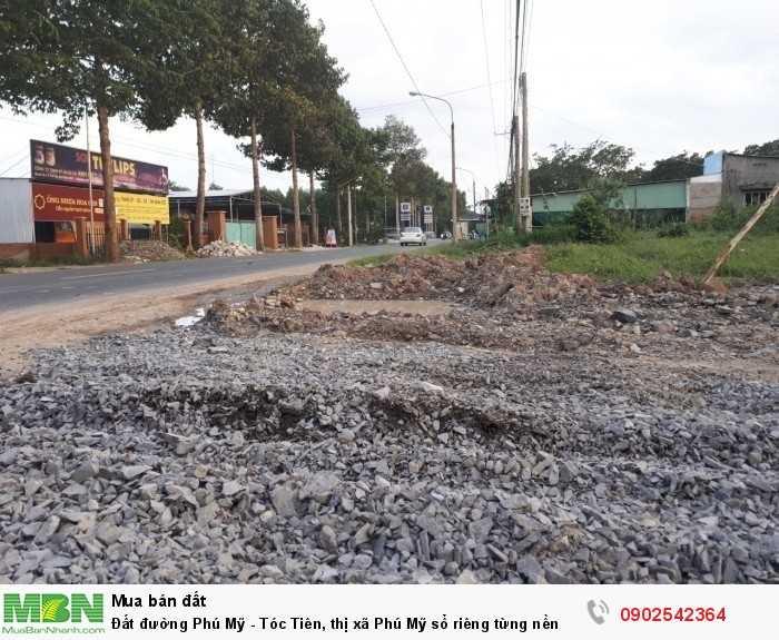 Đất đường Phú Mỹ - Tóc Tiên, thị xã Phú Mỹ sổ riêng từng nền