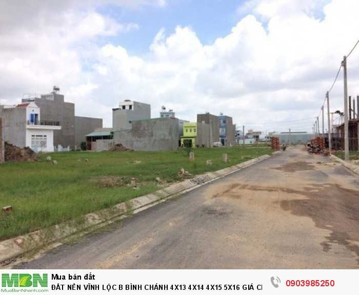 Đất Nền Vĩnh Lộc B Bình Chánh 4X13 4X14 4X15 5X16 Giá Chỉ 8Tr2/m2