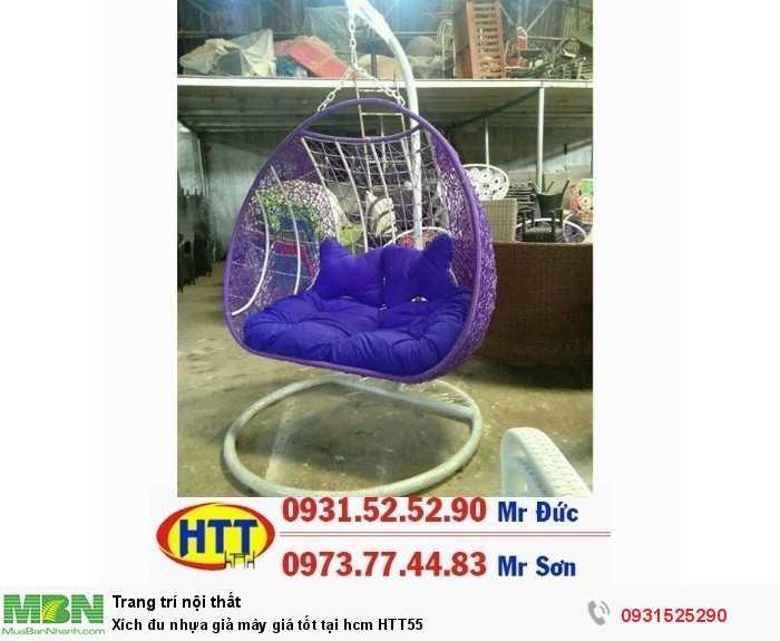 Xích đu nhựa giả mây giá tốt tại hcm HTT550