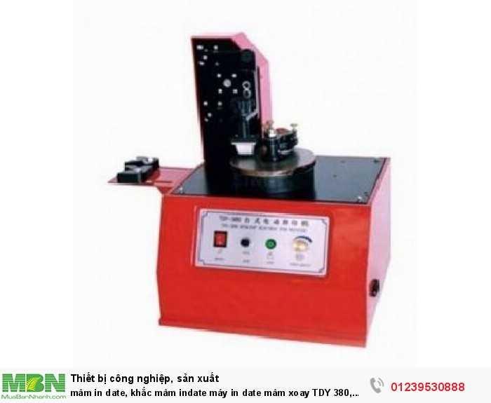 Mâm in date, khắc mâm indate máy in date mâm xoay TDY 380, SYM160, máy in date chai lọ hủ1