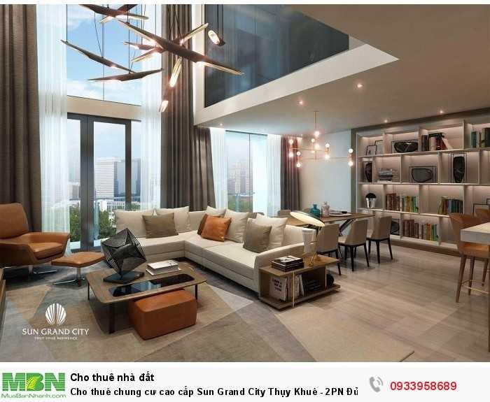 Cho thuê chung cư cao cấp Sun Grand City Thụy Khuê - 2PN Đủ đồ view Hồ Tây trong lành thoáng mát