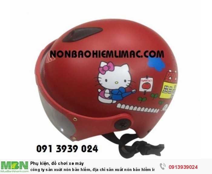 Công ty sản xuât nón bảo hiểm, địa chỉ sản xuất nón bảo hiểm in logo theo yêu cầu