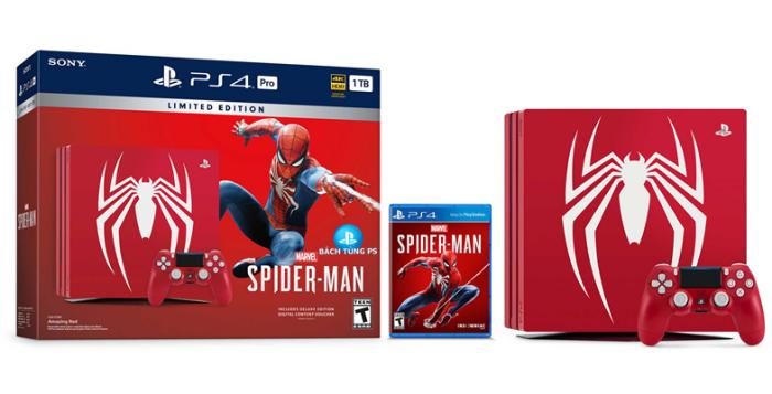 PS4 Pro Spider Man Bundle USA1