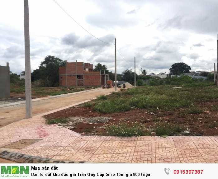 Bán lô đất khu đấu giá Trần Qúy Cáp 5m x 15m