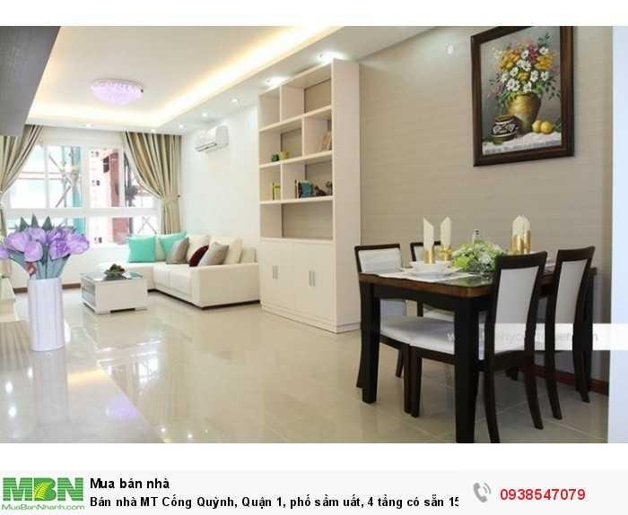 Bán nhà MT Cống Quỳnh, Quận 1, phố sầm uất, 4 tầng
