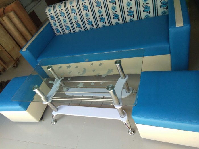 Bộ sofa xanh nước biển0