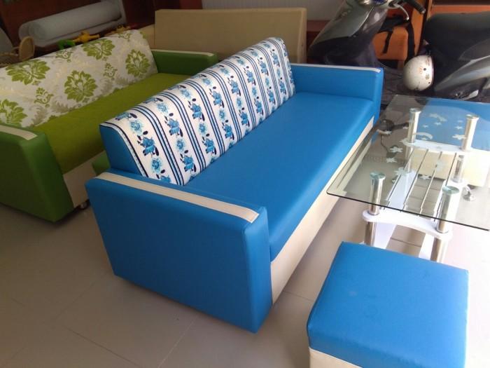 Bộ sofa xanh nước biển1