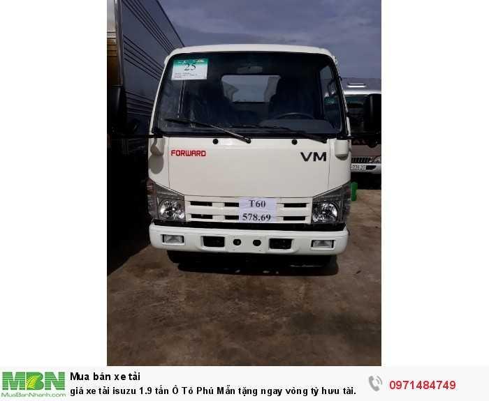 giá xe tải isuzu 1.9 tấn Ô Tô Phú Mẫn tặng ngay vòng tỳ hưu tài lộc bằng vàng