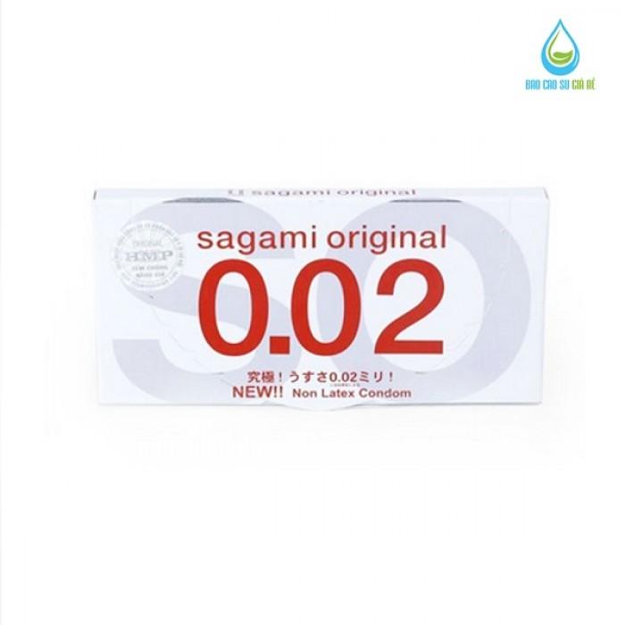 Bao Cao Su Sagami Original 0.02 (Hộp 2 Cái)1