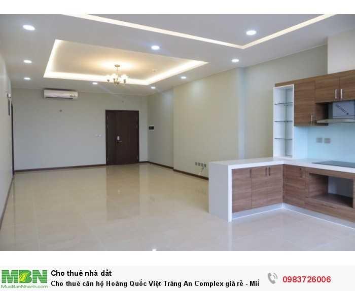 Cho thuê căn hộ Hoàng Quốc Việt Tràng An Complex giá rẻ - Miễn 100% phí dịch vụ. Nhận nhà xinh ở ngay !