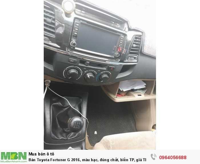 Bán Toyota Fortuner G 2016, màu bạc, đúng chất, biển TP, giá TL, hổ trợ góp