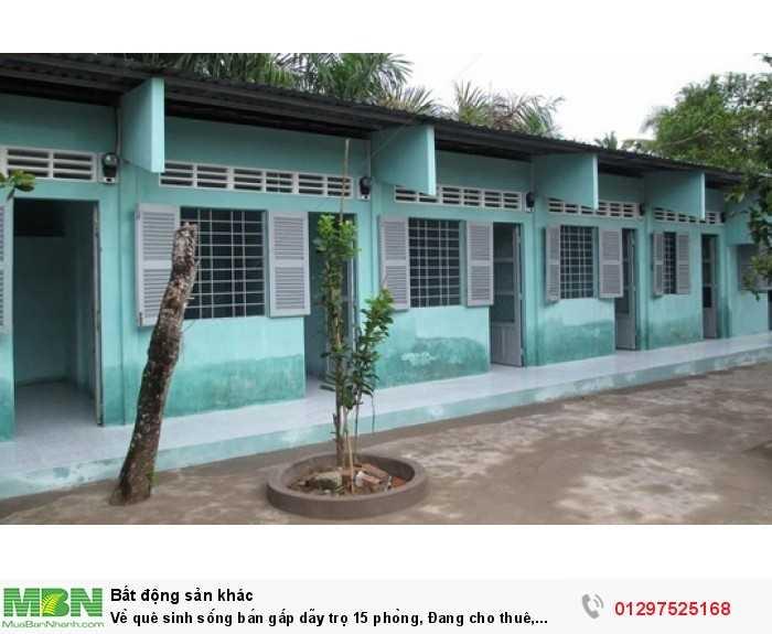Về quê sinh sống bán gấp dãy trọ 15 phòng, Đang cho thuê, Bình Chánh.