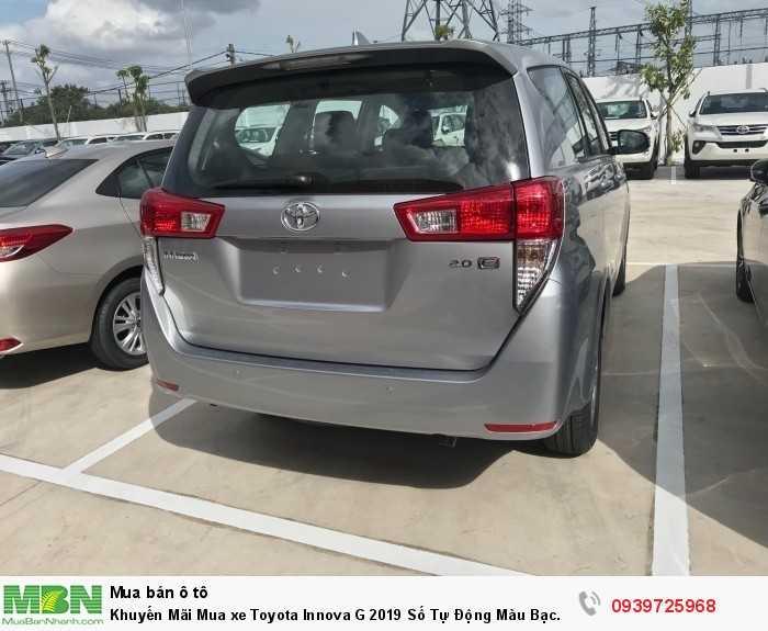 Khuyến Mãi Mua xe Toyota Innova G 2019 Số Tự Động Màu Bạc. Vay Trả Góp Chỉ 180Tr. Giao Xe Ngay