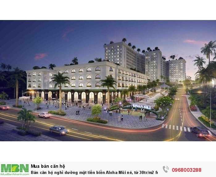 Bán căn hộ nghỉ dưỡng mặt tiền biển Aloha Mũi né, từ 30tr/m2 full nội thất, cam kết LN, sổ lâu dài!